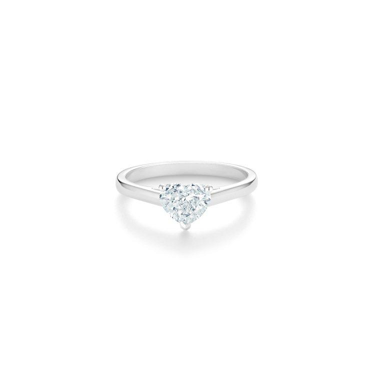 DE BEERS DB Classic 心形切割鑽石戒指,主鑽1克拉起,約41萬...
