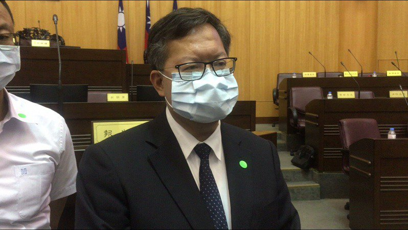 桃園市長鄭文燦今天在議會總質詢。記者陳俊智/攝影
