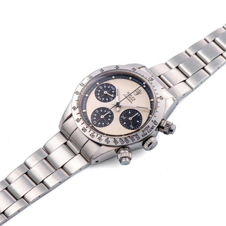 安帝古倫鐘表拍賣推出不鏽鋼型號6265的「保羅紐曼式熊貓面」迪通拿計時碼表第二代...