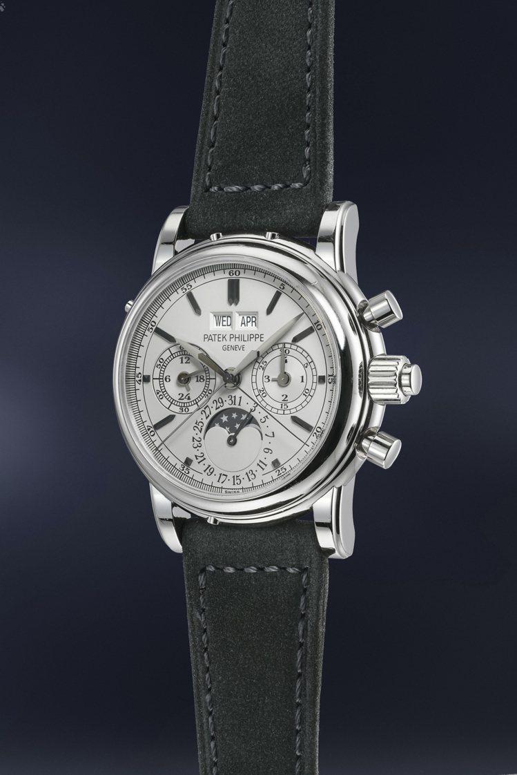 百達翡麗型號5004不銹鋼萬年曆追針計時腕表,將以無底價形式於富藝斯「名表薈萃-...