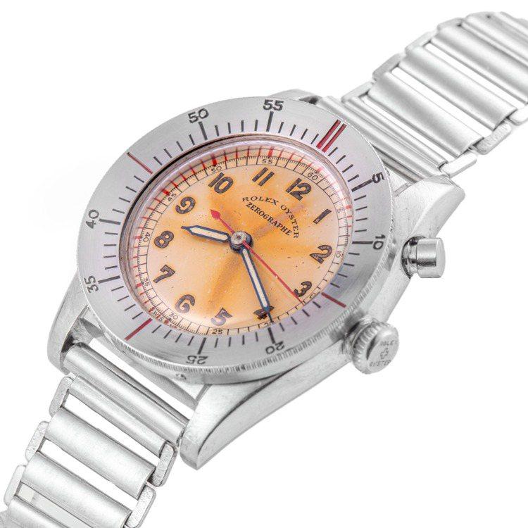 安帝古倫鐘表拍賣拍品編號292的型號3346的勞力士不鏽鋼ZEROGRAPHE腕...
