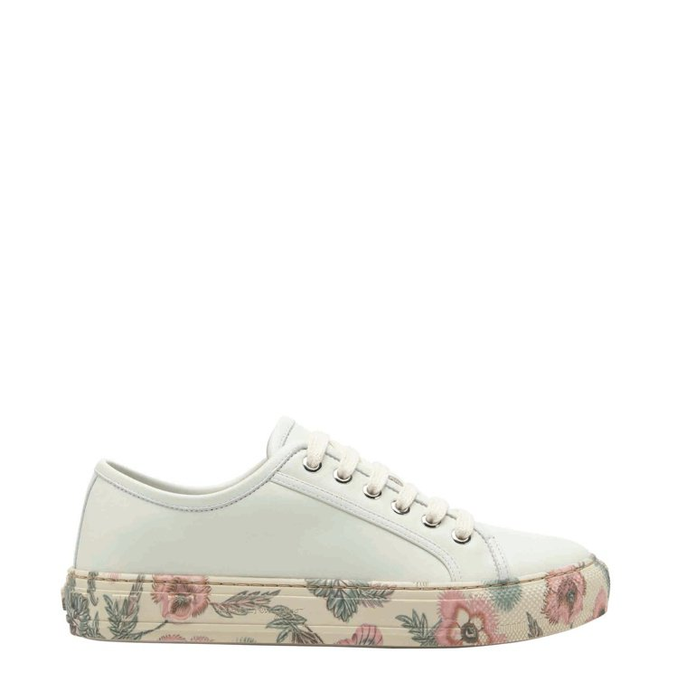 BORG CUBIC白色牛皮印花底休閒鞋,25,900元。圖/Salvatore...