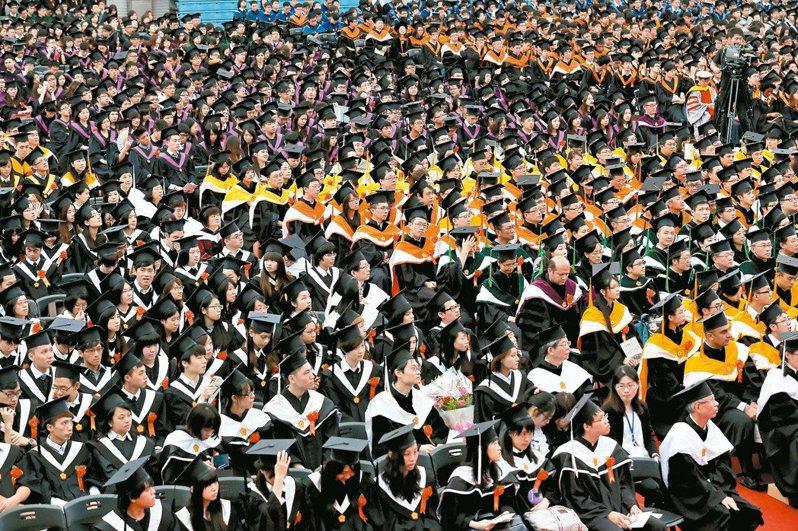 在少子化趨勢下,部分大學面臨退場危機。本報資料照片