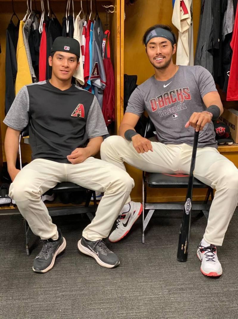 林家正與陳聖平本季分屬在同一支球隊,兩人將在位於中加州低階1A的Visalia Rawhide一同力爭上游。 取自林家正臉書