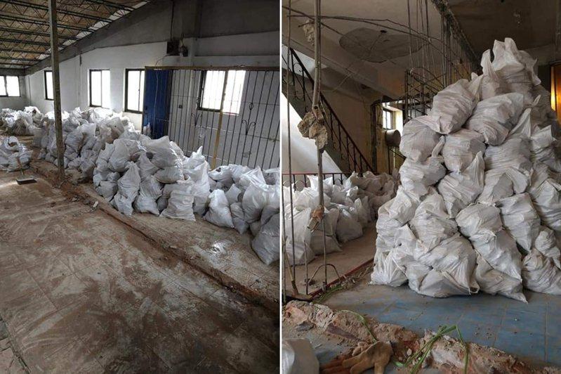 網友貼出工地需清運的廢料情況。 圖/翻攝自抱怨2公社