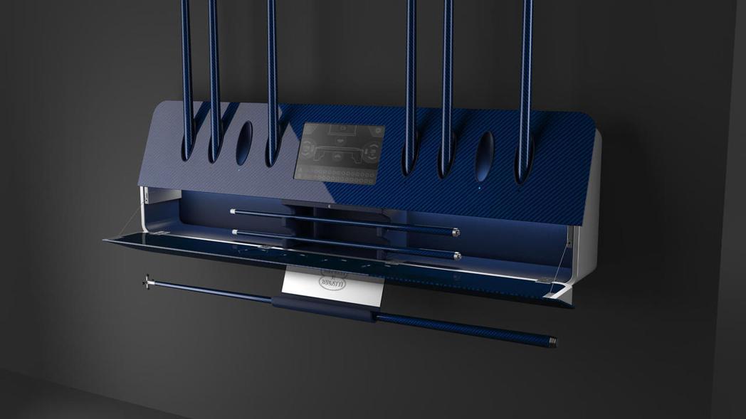Bugatti與西班牙一家專門生產碳纖維的公司IXO合作設計製造頂級撞球桌。 圖...