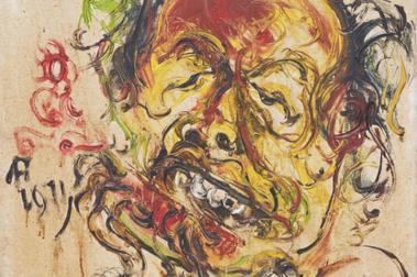 藝術收藏家姚謙/自畫像是一個視覺表達一個人的騷動