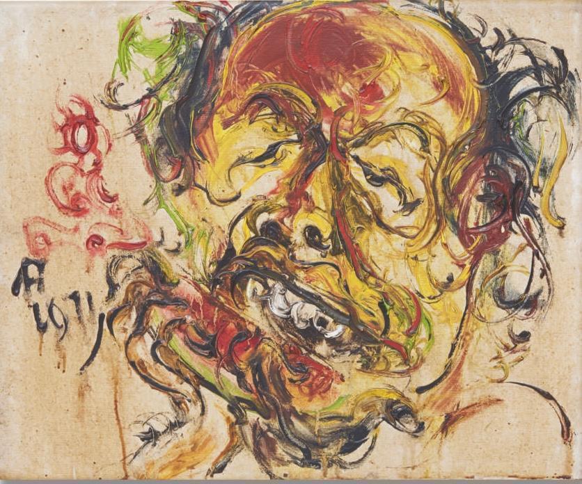 印尼藝術家阿凡迪Affendi的自畫像。圖/姚謙提供