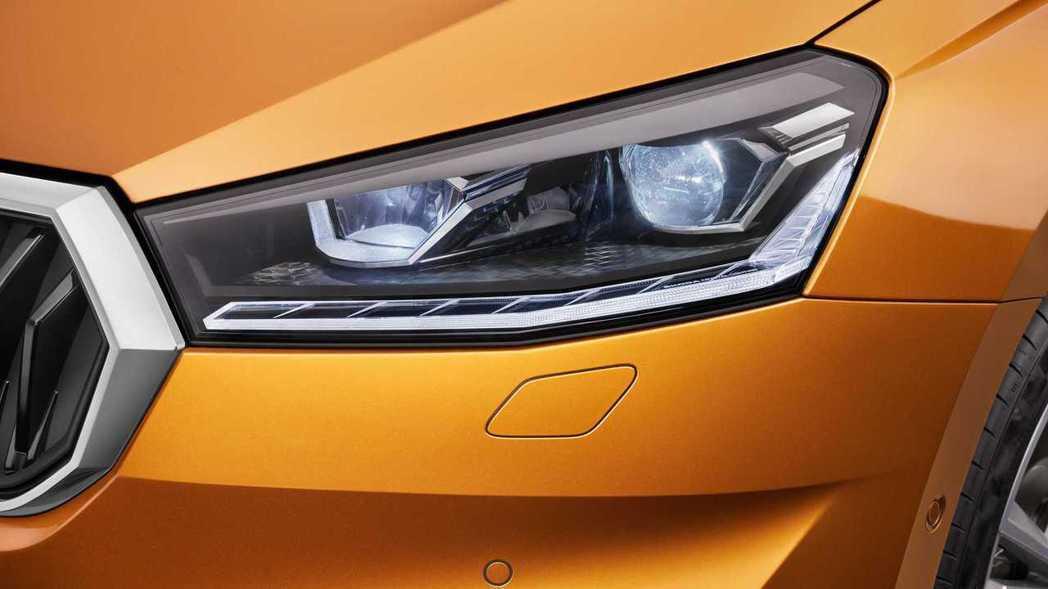 LED頭燈賦予入門小車更多科技感。 圖/Skoda提供