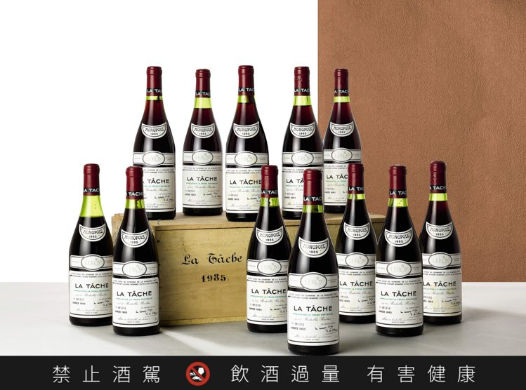 蘇富比「醇馥傳千里 歐洲頂級窖藏」拍品12瓶原木箱的La Tâche Doma...