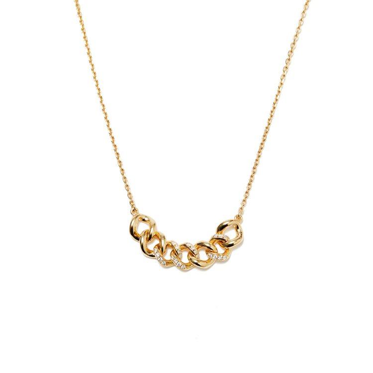ARTISMI鍊結鑽石項鍊,定價9,500元,母親節檔期優惠價8,800元。圖/...