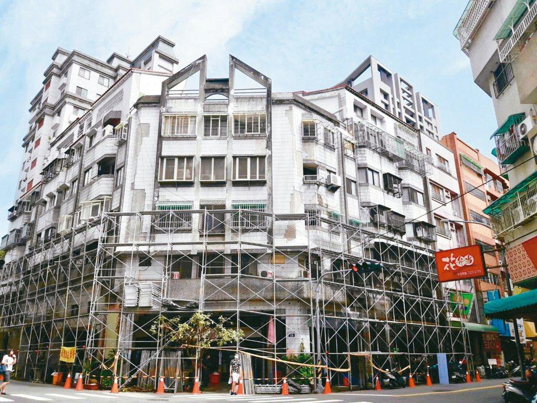 台北市危老改建熱度依舊,持續吸引資金投入卡位。示意圖。 聯合報系資料照