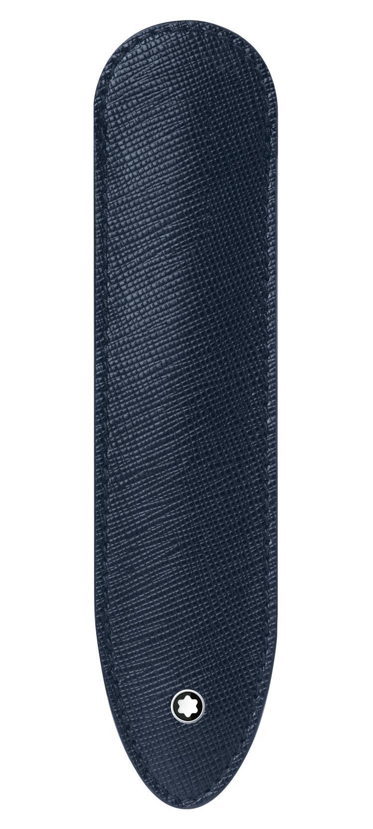 萬寶龍匠心系列筆套藍色款,4,100元。圖 / 萬寶龍提供。