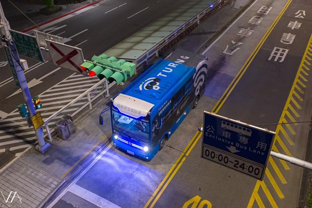 台北市自駕巴士即將再度開放行駛。  圖片/台灣智慧駕駛股份有限公司提供