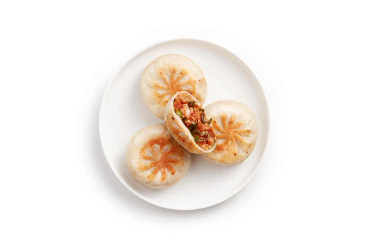 OmniPork「新豬肉剝皮辣椒餡餅」,內含41.63%的新豬肉,每口都可以吃到...