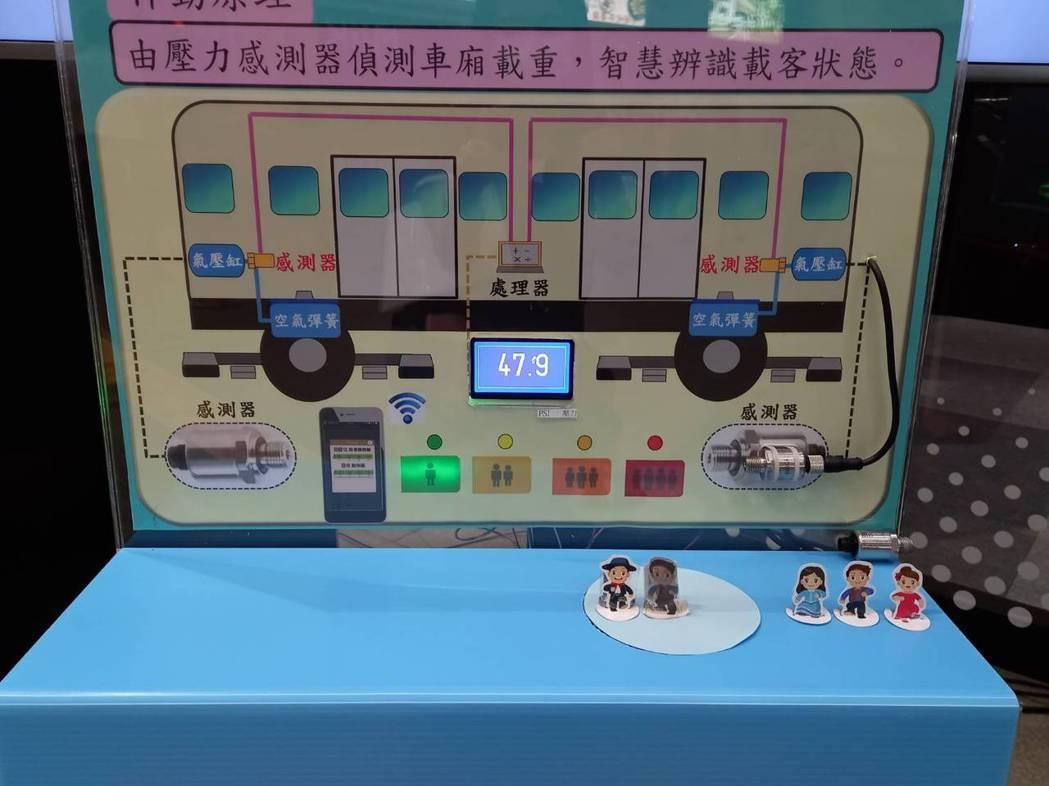 捷運文湖線忠孝復興站的「車廂擁擠度即時告知功能」今正式上線。圖/北捷提供