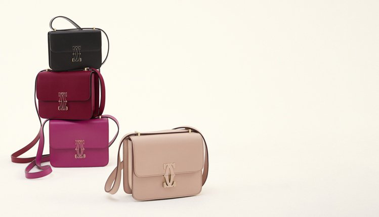 卡地亞推出全新Double C de Cartier系列包款。圖/卡地亞提供