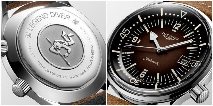 從1959年潛水表復刻的Legend Diver新款,煙燻棕色的面盤,可透過第二...