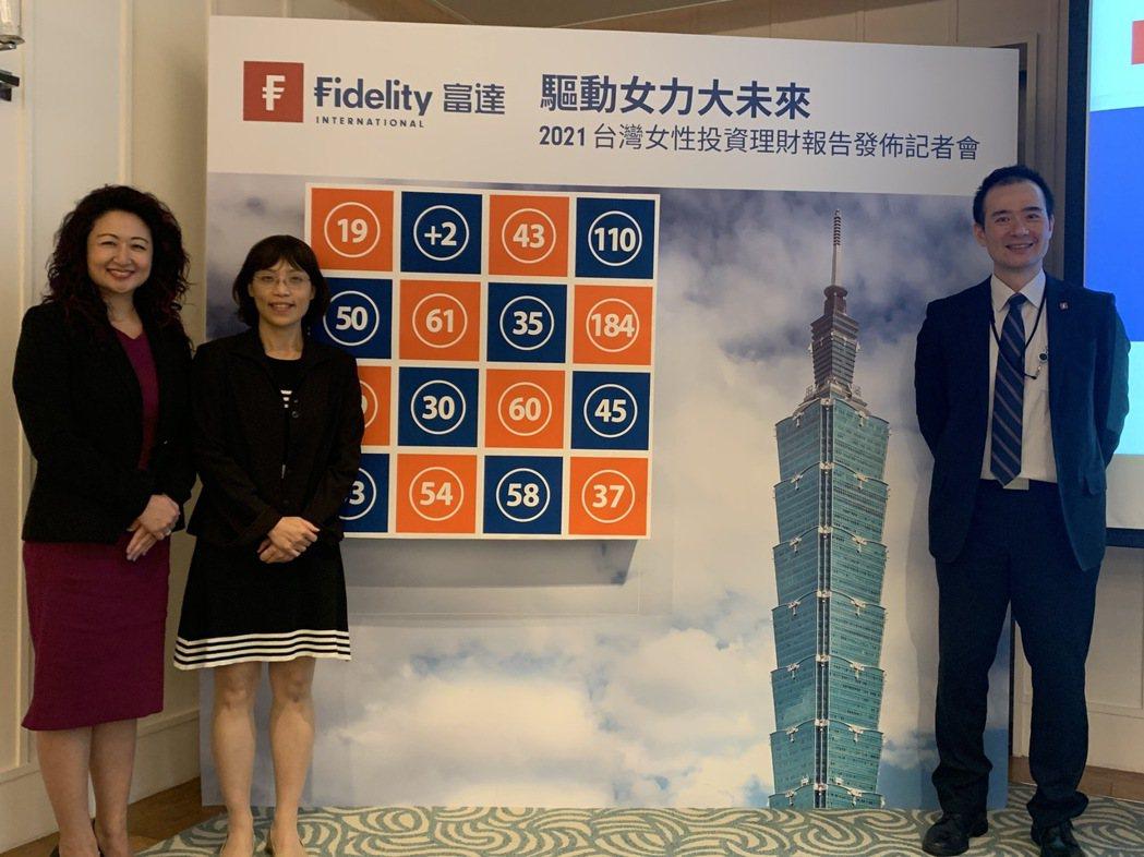 富達投信董事長陳思伊(左至右)、富達投信投資部主管張翠玲和富達投信市場及產品策略...