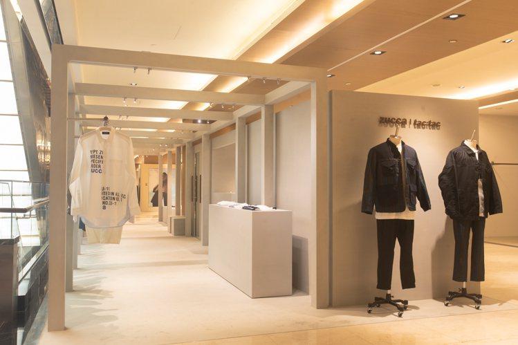 結合兩大日系品牌的ZUCCa男裝與tac:tac微風信義店,已於4月7日開幕。圖...