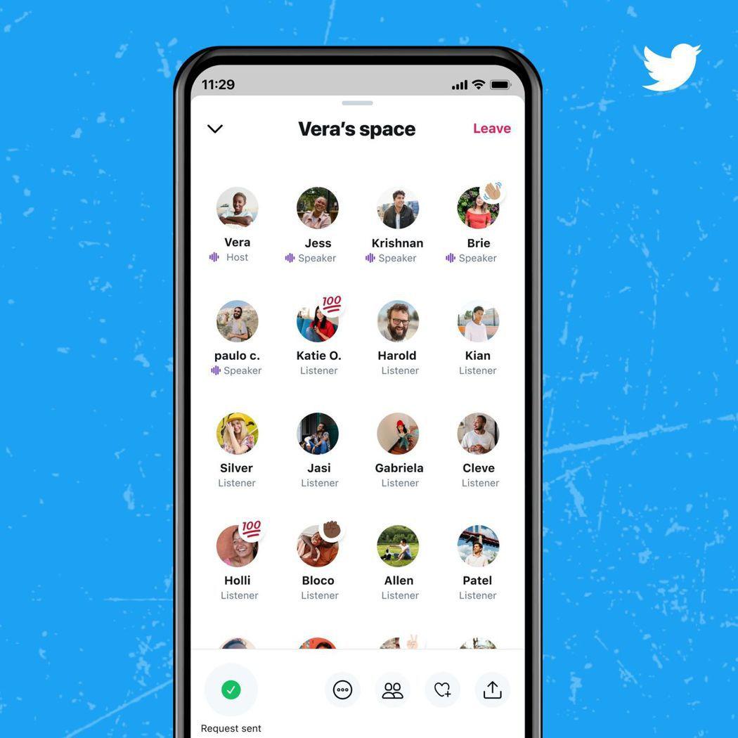 推特推出Spaces,開放iOS和安卓裝置用戶使用,與Clubhouse打對台。...