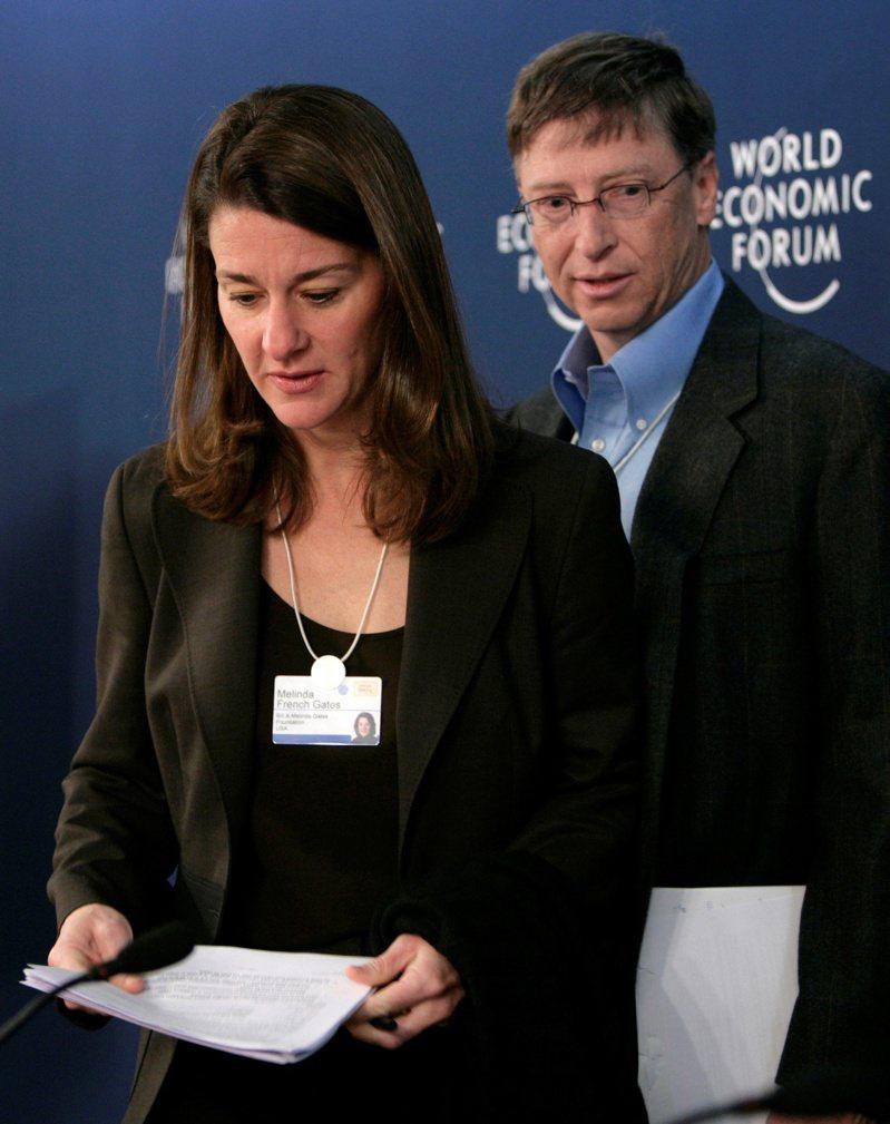 蓋茲夫婦出席2007年的世界經濟論壇。 路透社