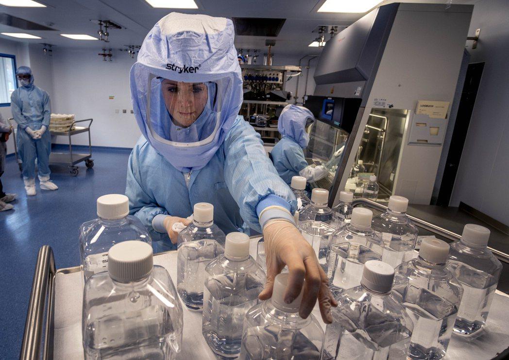 圖為BioNTech疫苗在德國的實驗室。 圖/美聯社