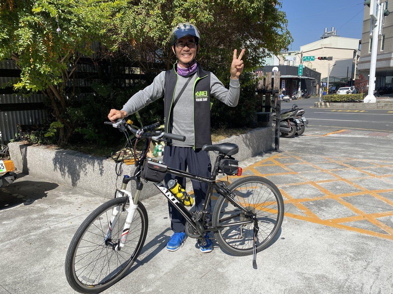 罹患糖尿病26年的吳文財控制飲食,也更重視健康,運動騎單車,他接續挑戰完成1日雙...