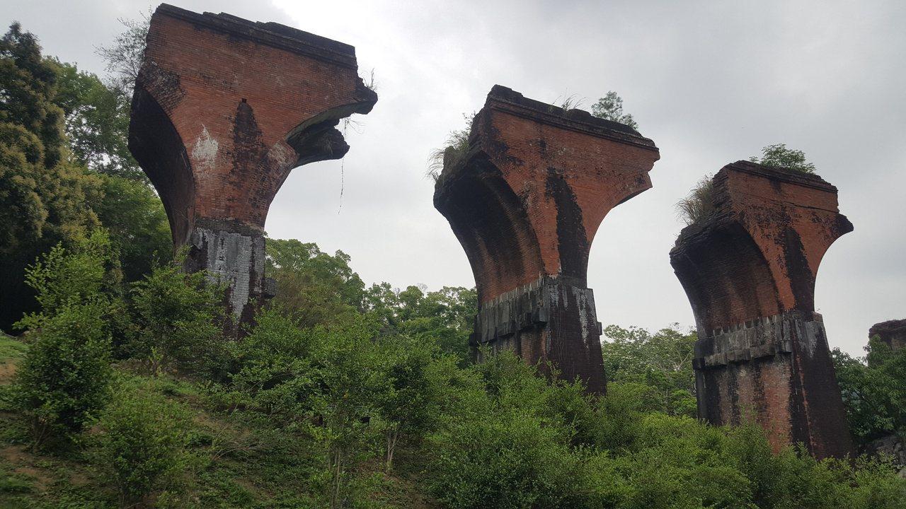 三義舊山線龍騰斷橋(魚藤坪斷橋)。 圖/胡蓬生 攝影