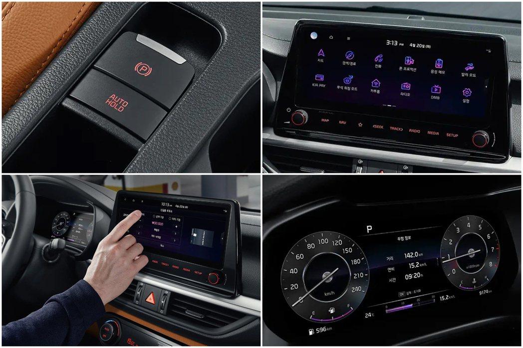 小改款Kia K3內裝格局基本上未有太多的變動,但原廠將中控螢幕尺寸放大,並導入...