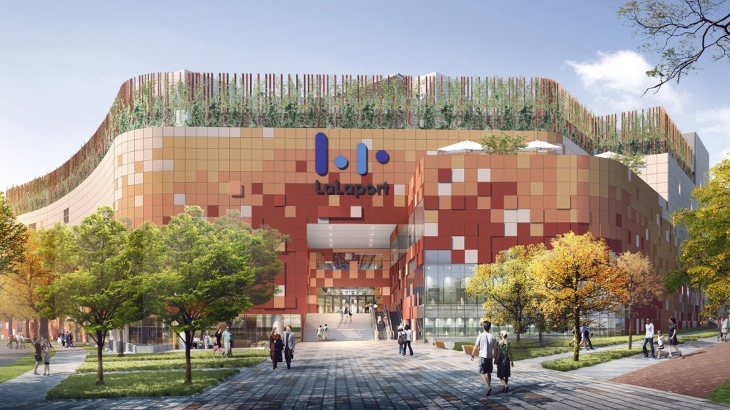 三井 LaLaport 購物商城 3D 示意圖,百億台中三井 LaLaport ...