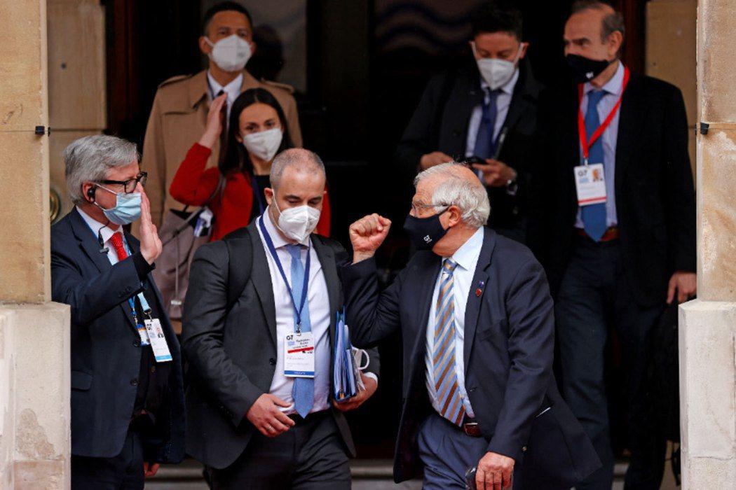 G7外長會議在倫敦舉行。路透社