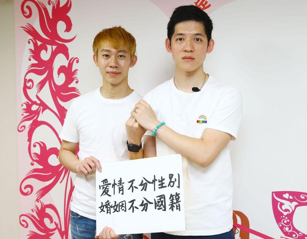 來自台灣和澳門的信奇(左)與阿古。本報資料照片