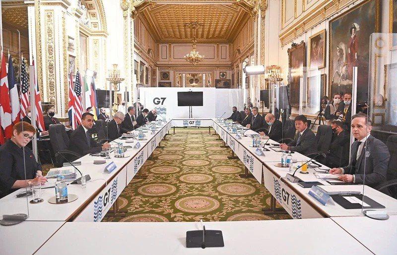七大工業國外長5日在倫敦開會。美聯社