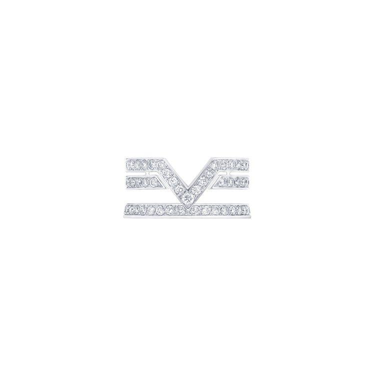 路易威登推出以V字圖騰為主角的Pure V系列高級珠寶。圖/路易威登提供