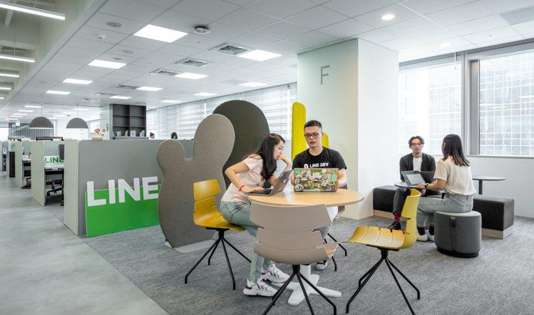 辦公室座位規劃比照日韓總部,開放員工選擇公共空間彈性座位,並可依需求申請居家辦公...