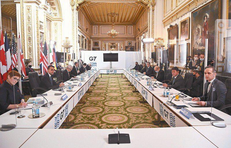 七大工業國外長五日在倫敦開會。美聯社