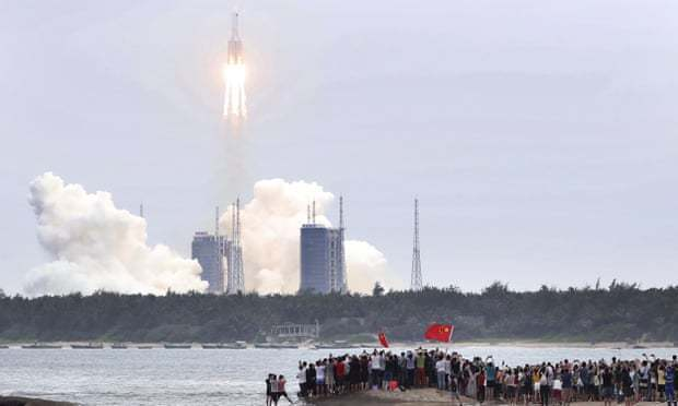 中國長征五號B火箭(Long March 5B)預計最快在當地時間周六(8日)晚...