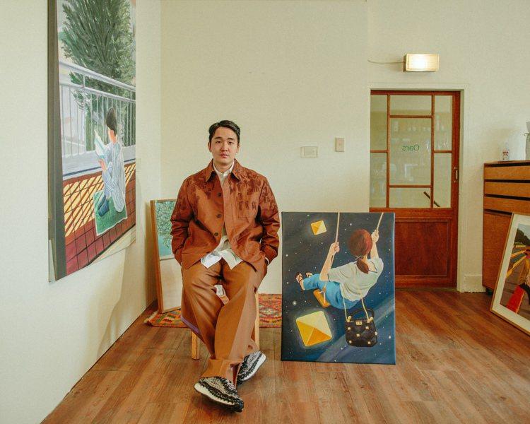 韓國藝術家Nahum Kim。圖/Valentino提供