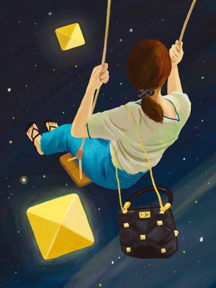 韓國藝術家Nahum Kim把鉚釘想像成星星。圖/Valentino提供