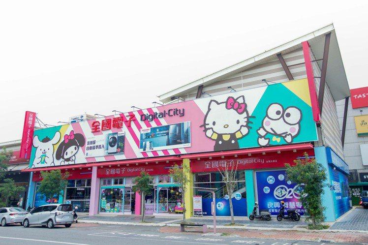 全國電子攜手Sanrio三麗鷗,打造全台首間聯名店,將於5月7日盛大開幕。圖/全...