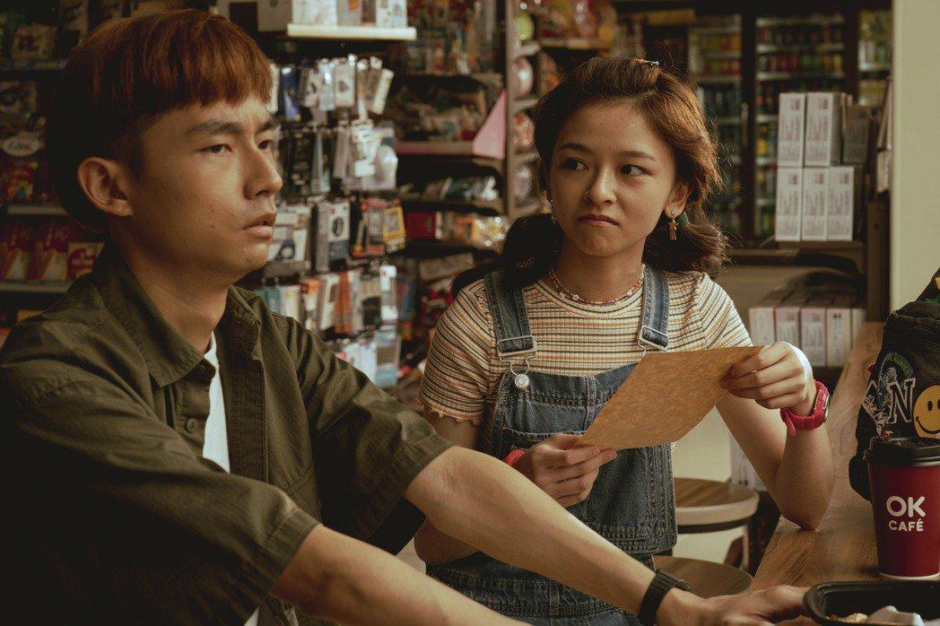 「池塘怪談」由林鶴軒(左)和陳妍霏主演。圖/金盞花大影業提供