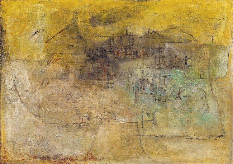 趙無極「風景 1952-1953」。圖/羅芙奧提供