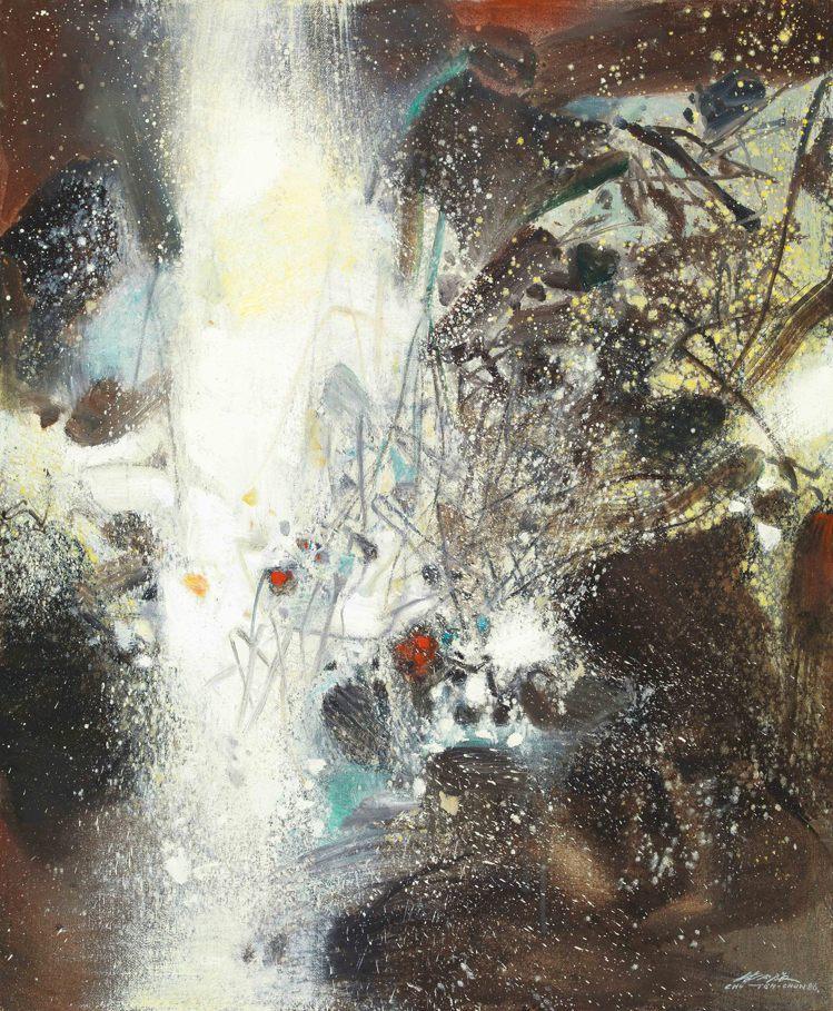 朱德群「21.11.1986(雪景)」。圖/羅芙奧提供