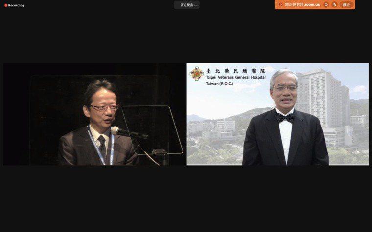 亞太骨腫瘤大會上個月在日本舉行,台北榮總副院長陳威明經由同步視訊,從現任理事長、...