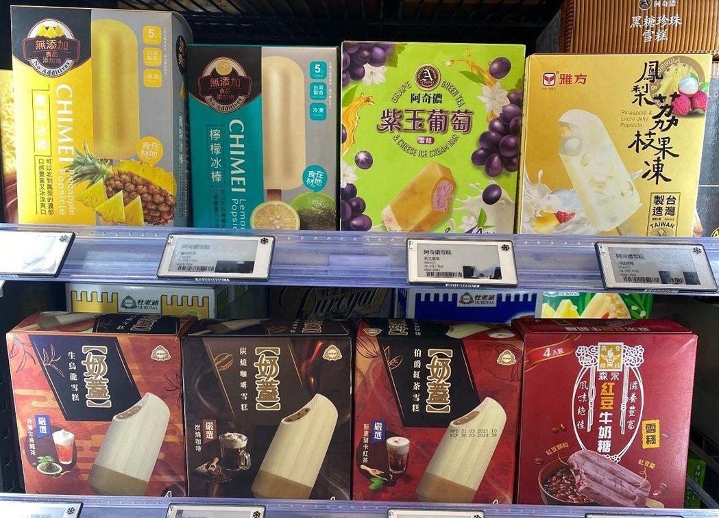 今年「水果系」、「飲料系」冰品眾多,每款都讓冰控想嚐鮮。圖/全聯福利中心提供