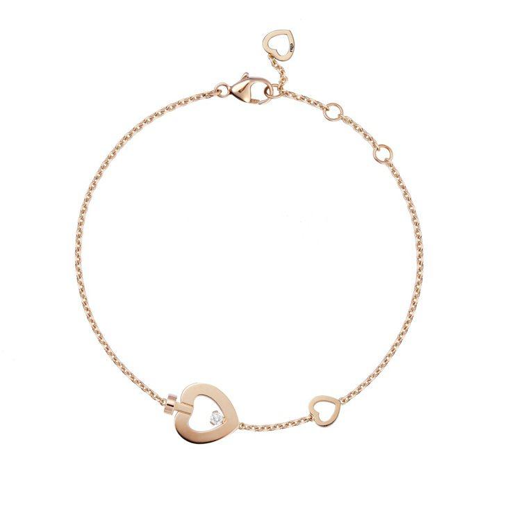 PRETTY WOMAN Fine Jewellery 18K玫瑰金鑽石迷你款手...