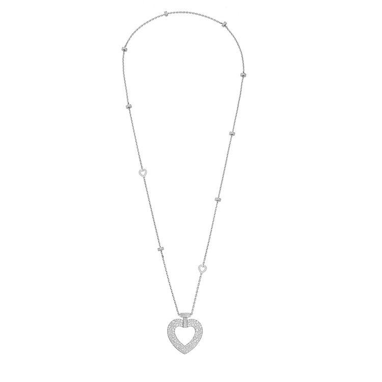 PRETTY WOMAN Fine Jewellery 18K白金鑽石超大號款長...