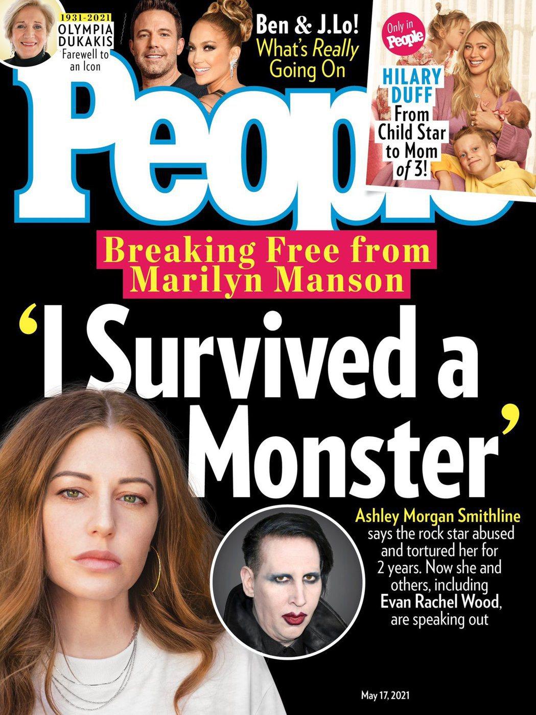 美媒「時人」最新一期專訪瑪莉蓮曼森舊愛艾希莉摩根,對方控訴他在交往期間不斷施以虐...