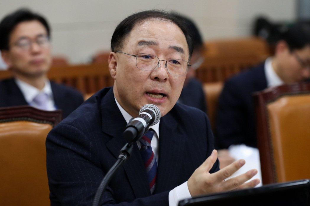 南韓財長洪楠基。彭博資訊